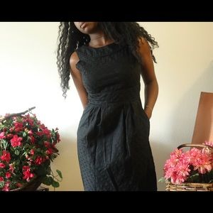 1950's style black dress with pockets
